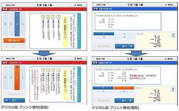 デジタル教材のイメージ