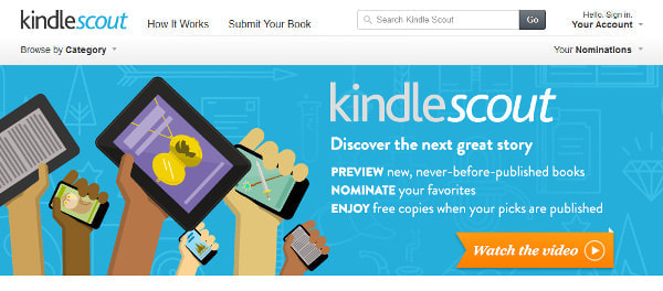 Amazon.com、ユーザーの人気投票をもとに小説を電子出版する「Kindle Scout」開始