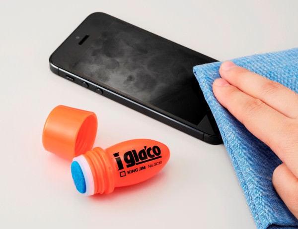 スマホの指紋が拭き取りやすいコーティング剤「iガラコ」、キングジムとソフト99が共同開発