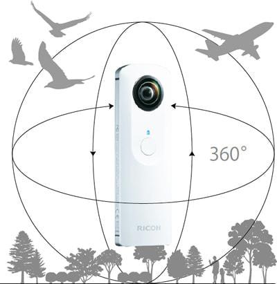 リコーの全天球カメラ「RICOH THETA」が動画撮影に対応、11月14日発売