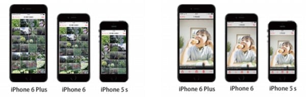 iPhone 6/6 Plus の大きな画面をいかした表示