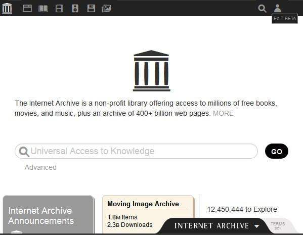 「Internet Archive」刷新--書籍・映像・音楽などの無料デジタルコレクションを前面に