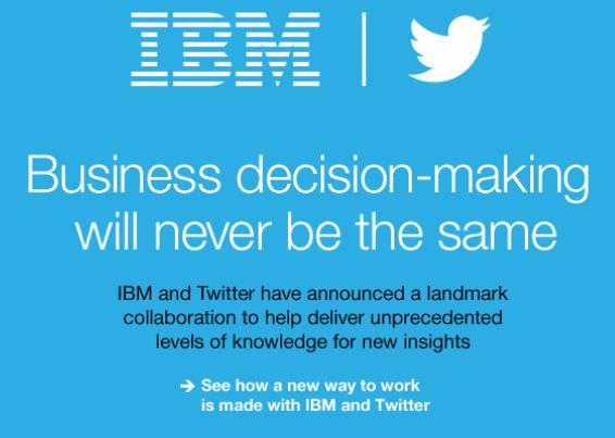 IBM が Twitter と提携、ビジネスの意思決定が変わるクラウドサービスを予定