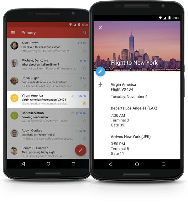 Google が「Gmail」「Calendar」用 Android アプリ刷新、連携強化し予定の自動作成が可能に、Gmail 以外にも対応