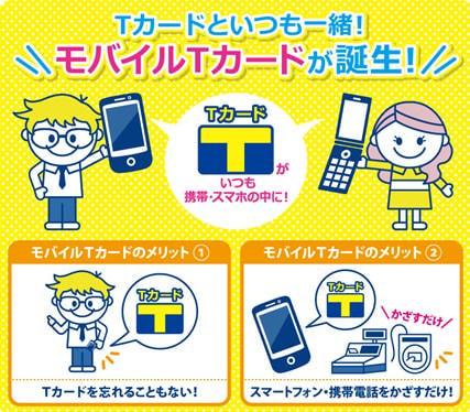 スマホ/ケータイ搭載 T カード機能された「モバイルTカード」、「カメラのキタムラ」101店舗でスタート