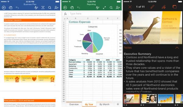iPhone 版 Word、Excel、PowerPoint