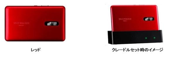 Wi-Fi WALKER WiMAX 2+ NAD11に新色「レッド」登場!