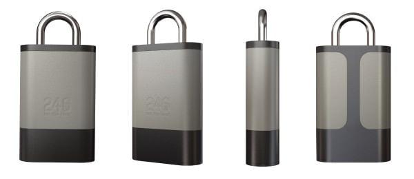 鍵穴の無いスマホで開閉する南京錠「246」、電池切れで操作できないなど実用性よりファッション用途