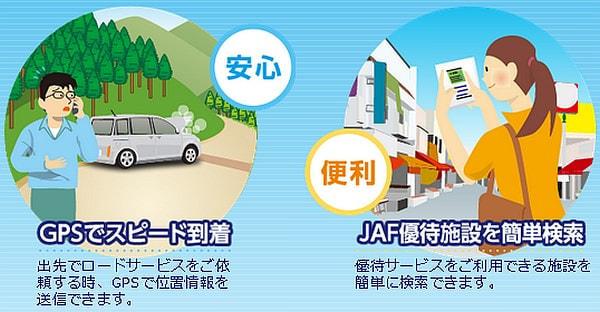 JAF デジタル会員証で使えるサービス