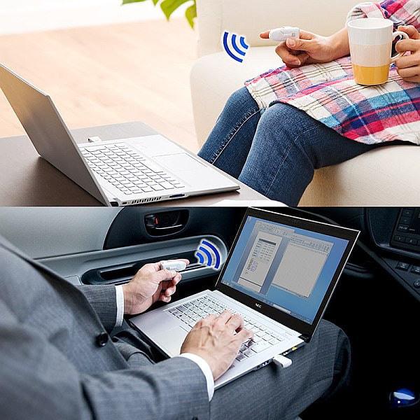 片手でパワーポイントを操作できて空中マウスにもなる「ワイヤレスマウス 400-MA060」