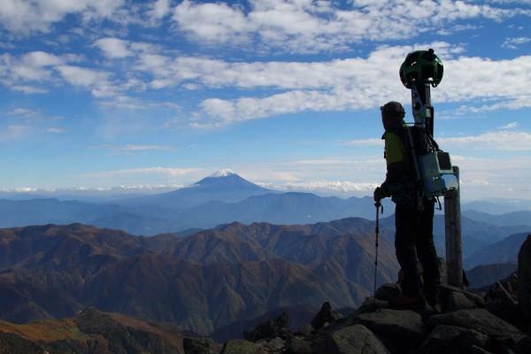 Google、北岳/奥穂高岳/間ノ岳などのストビュー画像を公開、富士山の富士宮ルートも