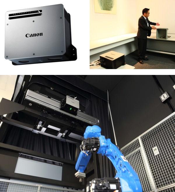 """キヤノンの産業用 3D マシンビジョン「RV1100」、""""バラ積み""""部品を高速認識"""