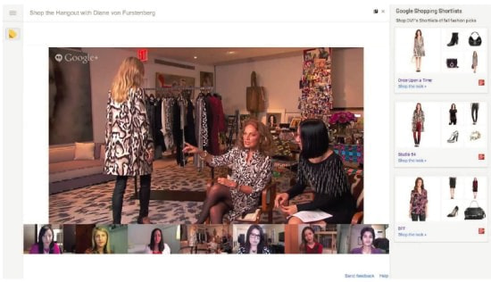 Google+のハングアウト「Showcase」イメージ