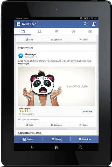 Facebook モバイルアプリ広告のアップデートで Amazon Fire もターゲットに