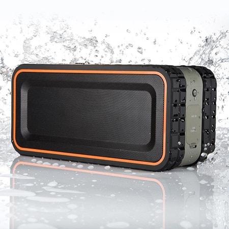 防水規格「IPX5」を取得 Bluetooth スピーカー、アウトドアに最適