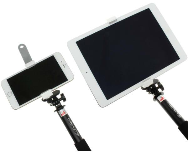 """iPad Air で大きく""""セルフィー"""" − Bluetooth リモコン付きセルフィースティック5点セット"""