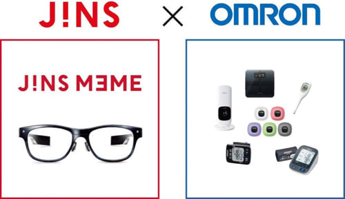 オムロン、眼鏡型ウェアラブル機器「JINS MEME」向けヘルスケアの開発へ