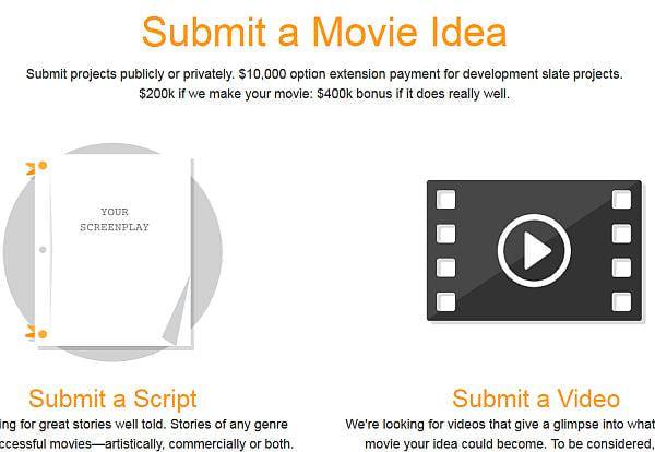 ユーザーは脚本やビデオを提出できる