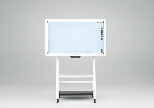 オプションの専用スタンドを装着した「リコー インタラクティブ ホワイトボード D5500」