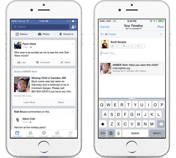 米国 Facebook、子どもの誘拐事件の捜査を助ける「アンバーレポート」をフィードに