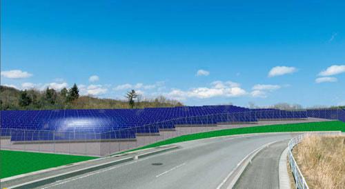 シャープ、福島県双葉郡で大規模太陽光発電所の建設工事を開始