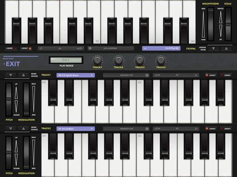 向い合せ鍵盤でマルチプレイ