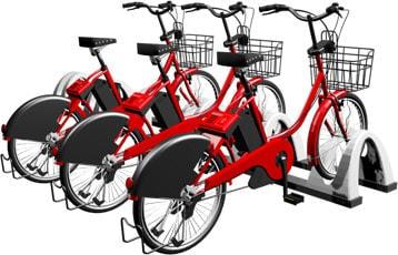 ドコモ、広島市とサイクルシェアリング事業--自転車には通信、GPS、遠隔制御機能を搭載