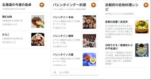 Google「Now カード」にクックパッド、SmartNews、SUUMO が追加