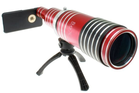iPhone で100メートル先を、上海問屋が 6/6 Plus 用80倍望遠レンズを販売