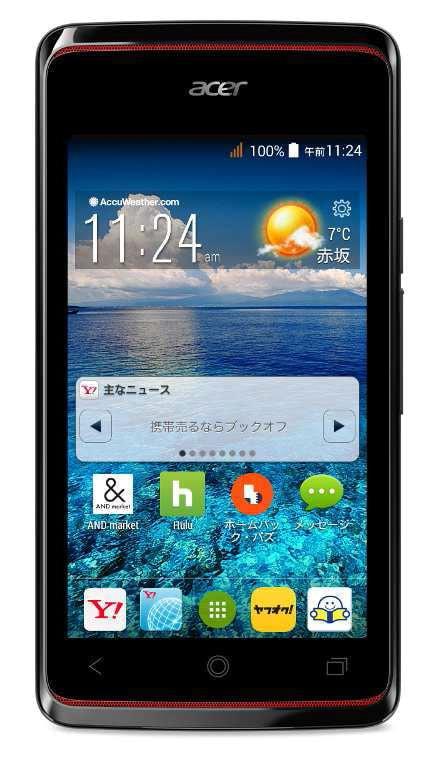 日本初上陸の Acer のスマートフォン