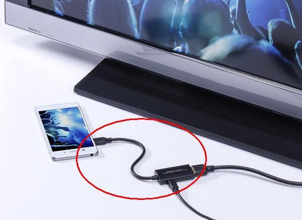 スマホのフル HD/4K 高精細映像をテレビに映す MHL-HDMI 変換アダプタ