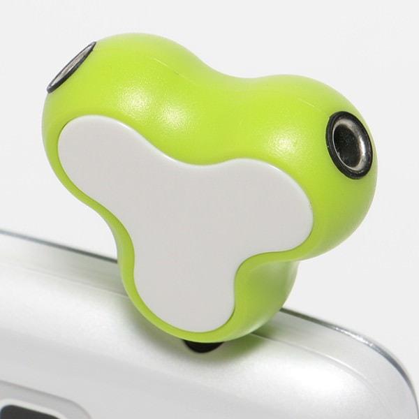 イヤホン スプリッタとして使用 カエルのようなデザインが可愛らしい