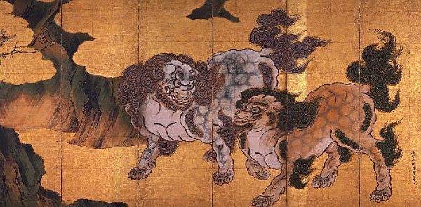 狩野永徳筆 唐獅子図 宮内庁三の丸尚蔵館