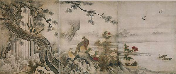狩野元信筆 四季花鳥図 重要文化財 京都・大仙院