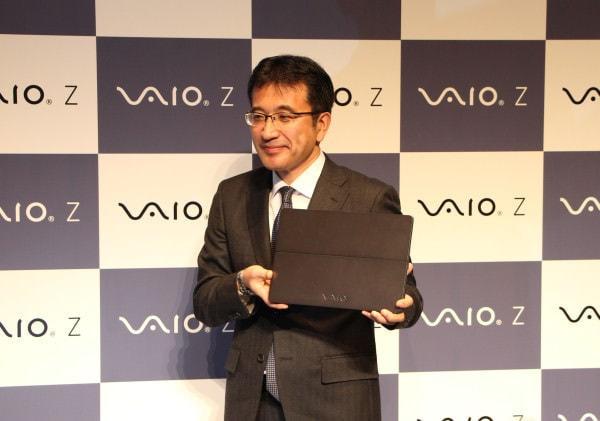 VAIO Z を掲げる VAIO 代表取締役社長の関取高行氏