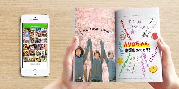 左ページに写真、右ページはキャンパスノートそのもの