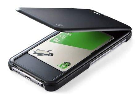 背面に IC カードが入る iPhone 6 ケース、iPhone がおサイフケータイに!