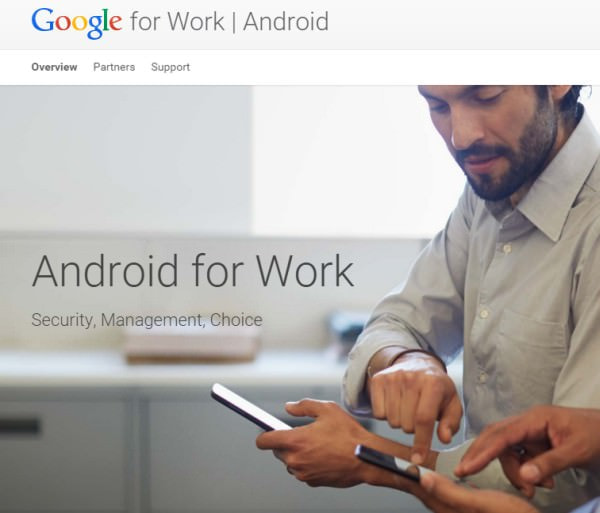 Google が BYOD 支援サービス「Android for Work」発表、私物 Android 端末を業務に活用