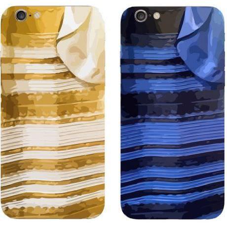 「青と黒」か「白と金」か、話題のドレスが iPhone ケースに―米アマゾンが予約受付