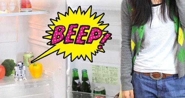 冷蔵庫の開け放しを警告してくれる (出典:Hamee)