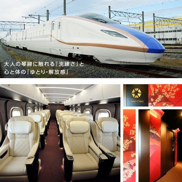 上:北陸新幹線に投入される新型車両 E7 系 下:贅沢な空間のグランクラス (出典:JR 東日本)