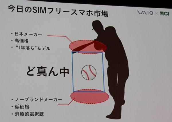 SIM ロックフリーのスマホ市場で空いているという 「真ん中のストライクゾーンに直球を投げる」戦略