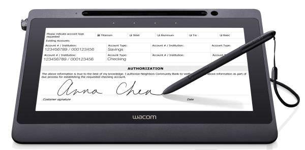 紙でなくてもサインできる フル HD 対応ワコムペンタブレット