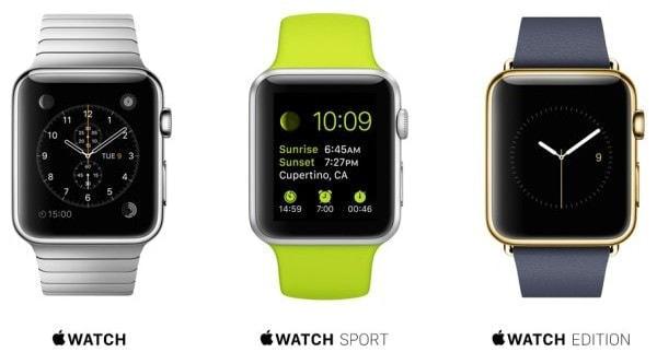 スマートウォッチ「Apple Watch」の価格幅は非常に広い (出典:Apple)