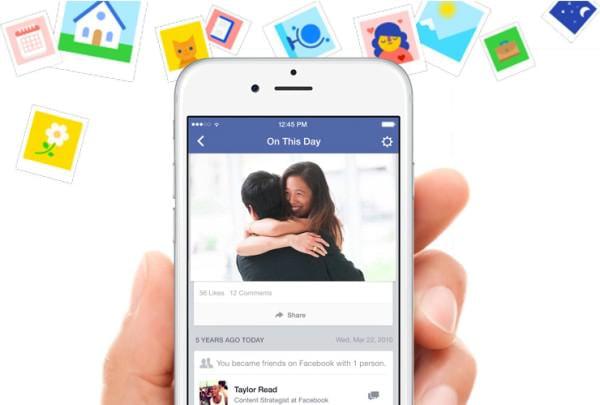 Facebook、「1年前に何をしたかな?」がすぐに分かる「On This Day」登場