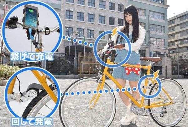 ツーキニストなら漕いでスマホ充電、「自転車 USB ダイナモチャージャー」登場