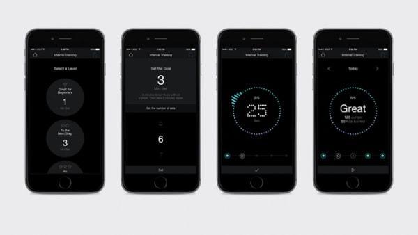対応アプリ Smart Gym の画面例