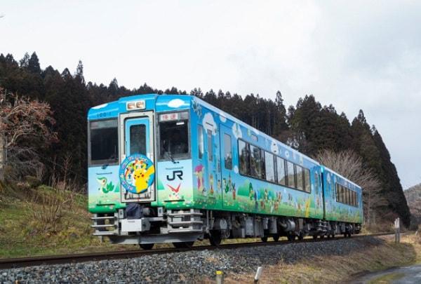 POKEMON with YOUトレイン (出典:三陸鉄道、ヤフー、ポケモン)