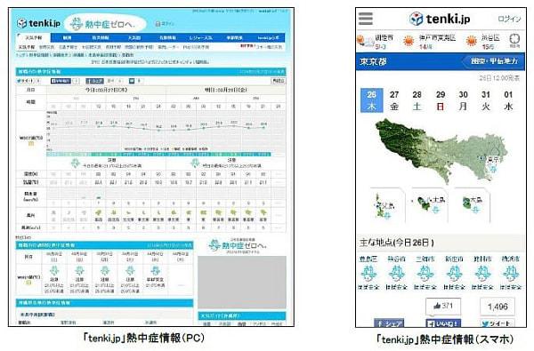花粉の次は...熱中症の予測情報を「tenki.jp」が提供開始