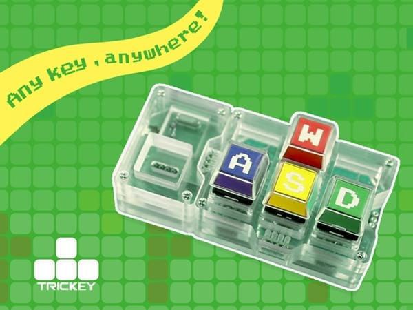 ブロックみたいに組み立てる小型 USB キーボード「Trickey」